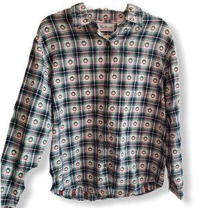 Westbound ugly Christmas plaid longsleeve shirt M